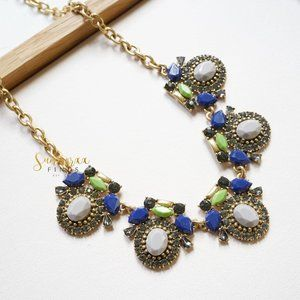 J.Crew Crystal Oval Stone Statement Necklace
